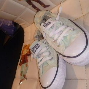 Mint Green Converse All-Stars/size 8